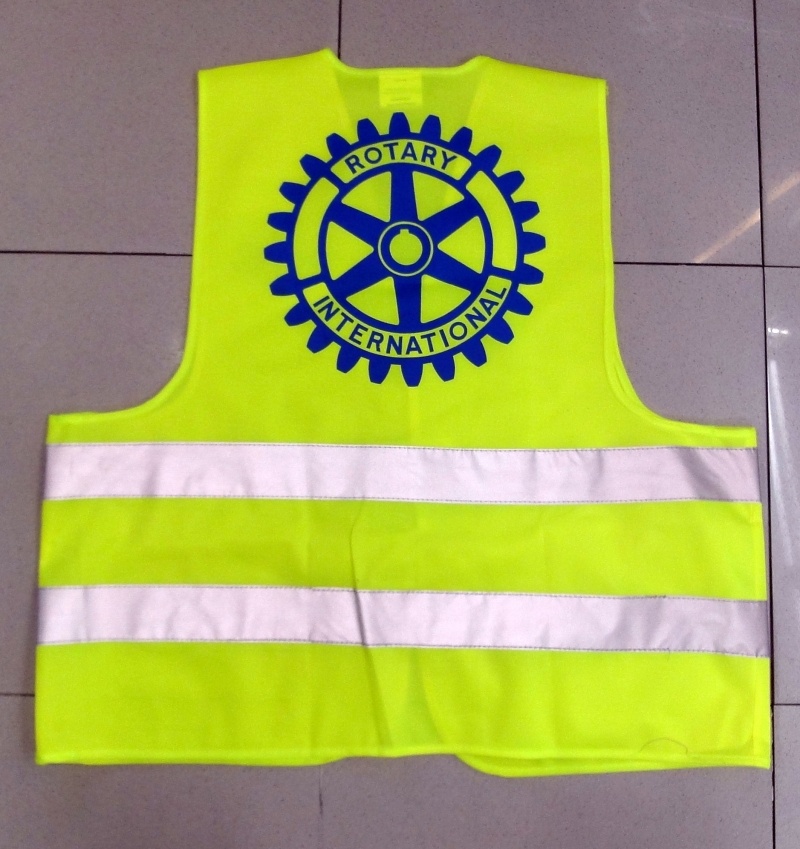 Producto Chaleco reflectante logo Rotary
