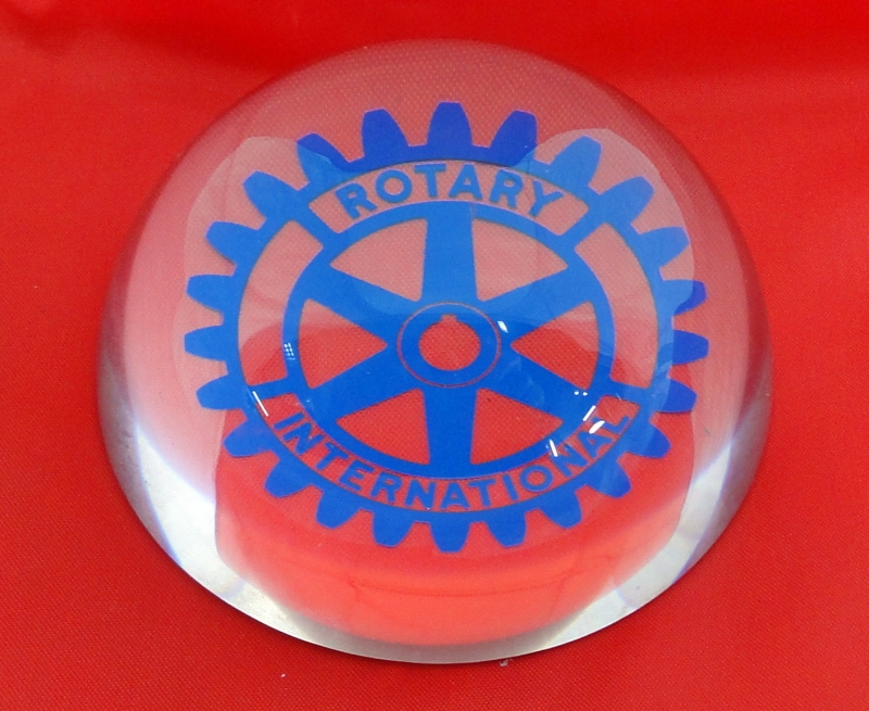 Producto Pisapapeles cristal Rotary